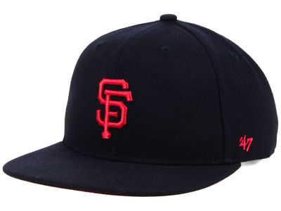 San Francisco Giants '47 MLB Kids Black Shot Snapback Cap