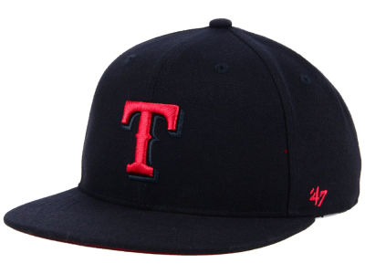 Texas Rangers '47 MLB Kids Black Shot Snapback Cap