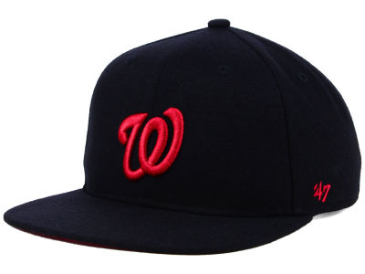 Washington Nationals '47 MLB Kids Black Shot Snapback Cap