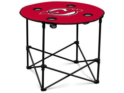 New Jersey Devils Logo Brands Round Folding Table