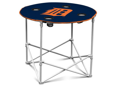 Detroit Tigers Logo Brands Round Folding Table