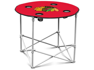 Chicago Blackhawks Logo Brands Round Folding Table