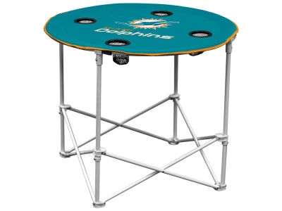 Miami Dolphins Logo Brands Round Folding Table