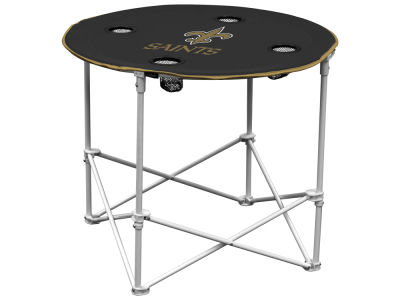New Orleans Saints Logo Brands Round Folding Table