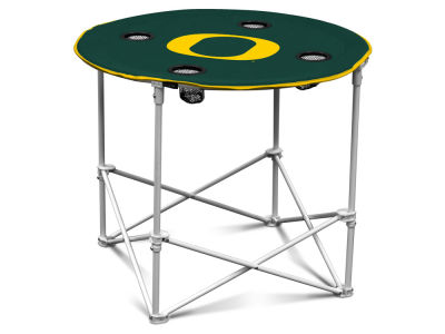 Oregon Ducks Logo Brands Round Folding Table