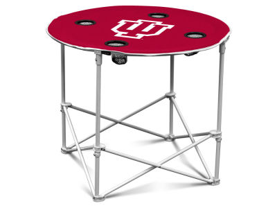 Indiana Hoosiers Logo Brands Round Folding Table