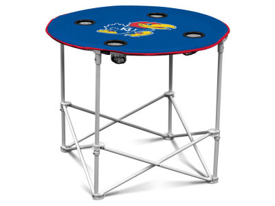 Kansas Jayhawks Round Folding Table V