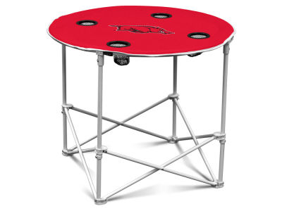 Arkansas Razorbacks Round Folding Table V