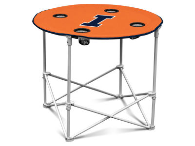 Illinois Fighting Illini Logo Brands Round Folding Table