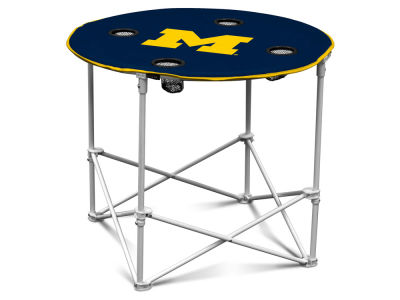 Michigan Wolverines Round Folding Table V