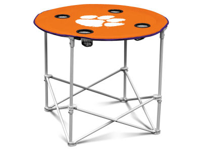 Clemson Tigers Logo Brands Round Folding Table