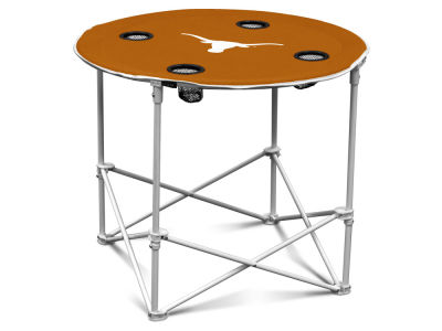 Texas Longhorns Logo Brands Round Folding Table