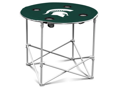 Michigan State Spartans Round Folding Table V