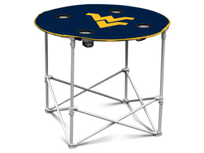 West Virginia Mountaineers Round Folding Table V