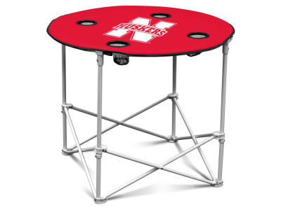 Nebraska Cornhuskers Logo Brands Round Folding Table