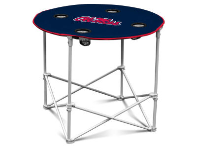 Ole Miss Rebels Round Folding Table V