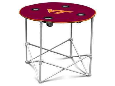 Virginia Tech Hokies Logo Brands Round Folding Table