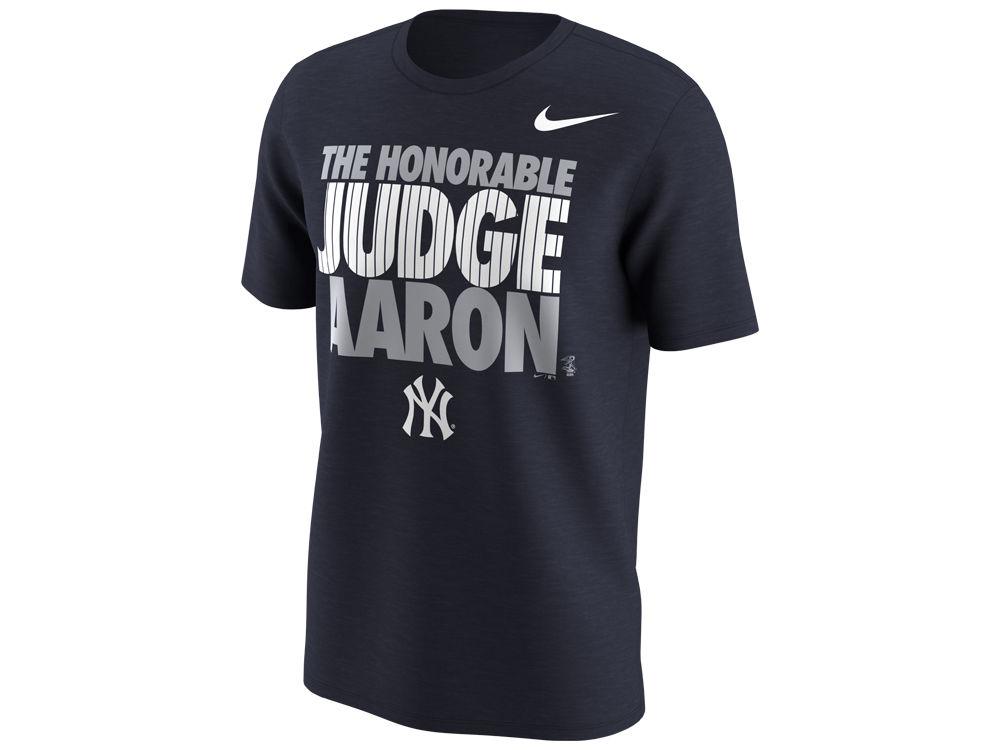 New York Yankees Aaron Judge Nike MLB Men s Honorable Judge T-Shirt ... 46b31159175