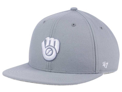 Milwaukee Brewers '47 MLB Youth '47 Basic Shot Snapback Cap