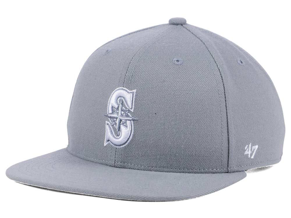 sports shoes 9b4e3 263ae get seattle mariners 47 mlb youth 47 basic shot snapback cap 1dd26 ce804