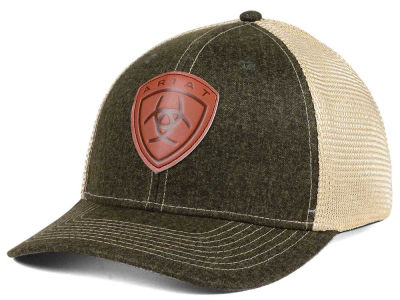 Ariat Leather Patch Trucker Hat