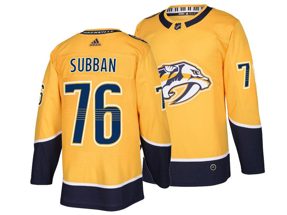 Nashville Predators P.K. Subban adidas NHL Men s adizero Authentic Pro  Player Jersey e13006328