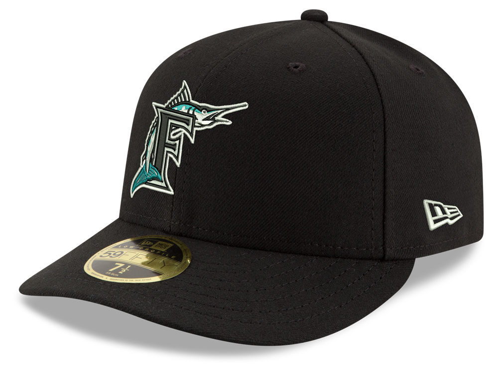 c3085ceab84 Florida Marlins New Era MLB Cooperstown Low Profile 59FIFTY Cap ...