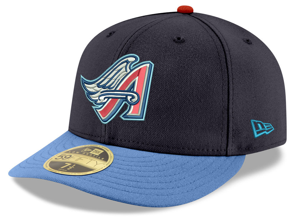 Los Angeles Angels New Era MLB Cooperstown Low Profile 59FIFTY Cap ... a01752da26bc