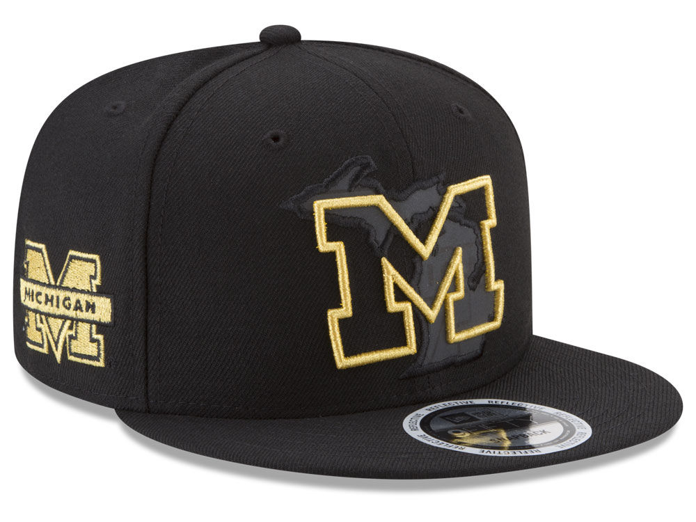 Michigan Wolverines New Era NCAA State Flective Snapback Cap  bf461f06487