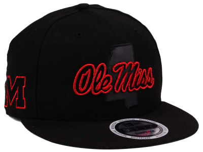 Ole Miss Rebels New Era NCAA State Flective Snapback Cap