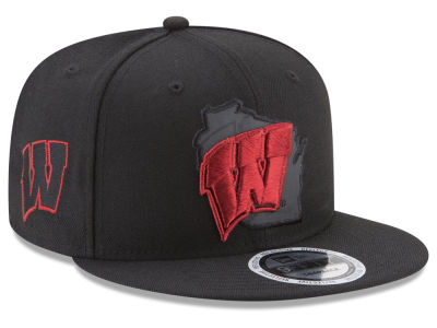 Wisconsin Badgers New Era NCAA State Flective Snapback Cap