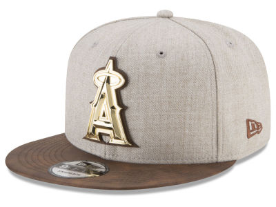 Los Angeles Angels New Era MLB Oatmeal O'Gold 9FIFTY Snapback Cap