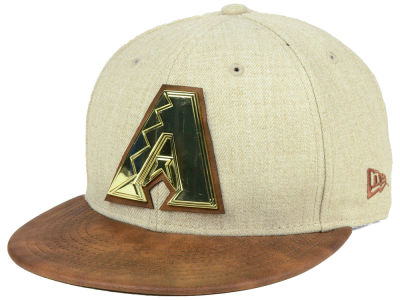 Arizona Diamondbacks New Era MLB Oatmeal O'Gold 9FIFTY Snapback Cap