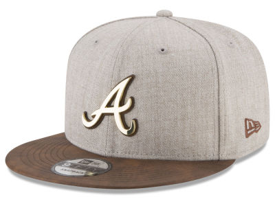 Atlanta Braves New Era MLB Oatmeal O'Gold 9FIFTY Snapback Cap