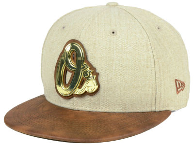 Baltimore Orioles New Era MLB Oatmeal O'Gold 9FIFTY Snapback Cap