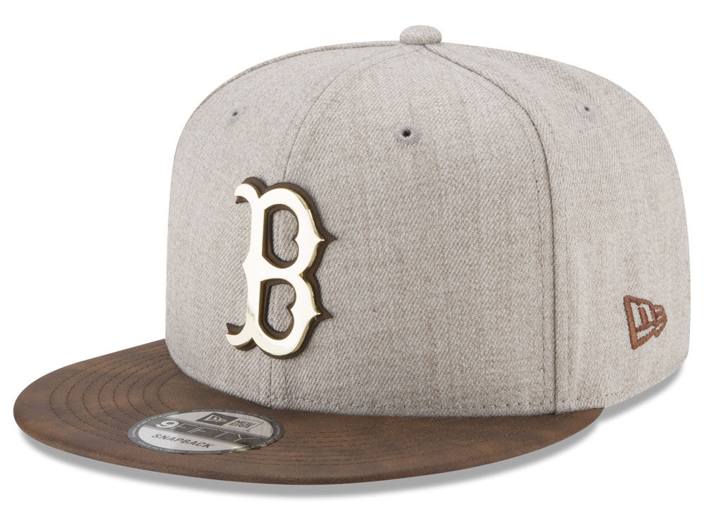 Boston Red Sox New Era MLB Oatmeal OGold 9FIFTY Snapback Cap