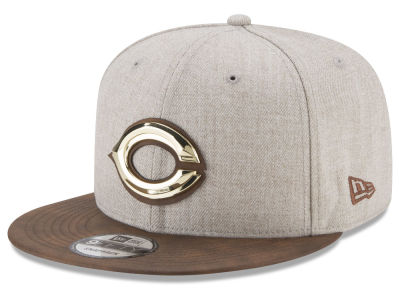 Cincinnati Reds New Era MLB Oatmeal O'Gold 9FIFTY Snapback Cap