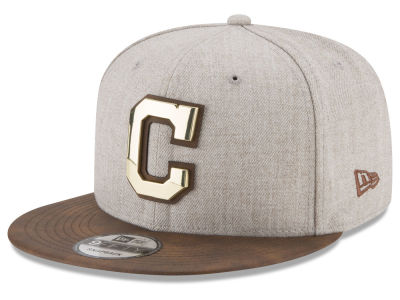 Cleveland Indians New Era MLB Oatmeal O'Gold 9FIFTY Snapback Cap