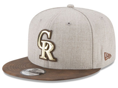Colorado Rockies New Era MLB Oatmeal O'Gold 9FIFTY Snapback Cap