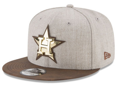 Houston Astros New Era MLB Oatmeal O'Gold 9FIFTY Snapback Cap