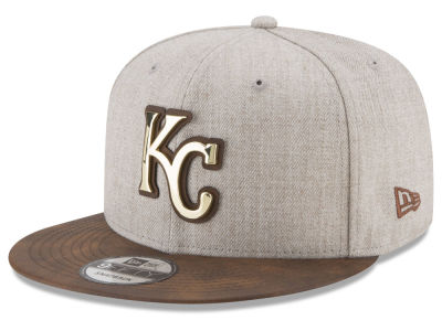 Kansas City Royals New Era MLB Oatmeal O'Gold 9FIFTY Snapback Cap