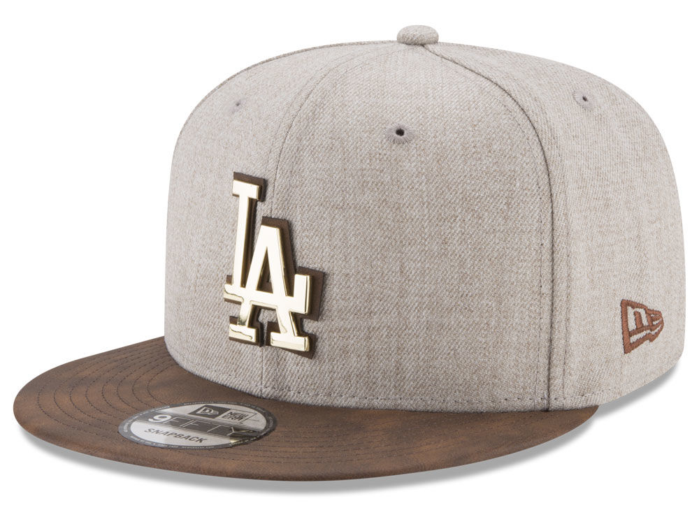 Los Angeles Dodgers New Era MLB Oatmeal O Gold 9FIFTY Snapback Cap ... 27a768ec8f2e