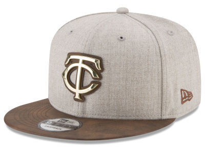 Minnesota Twins New Era MLB Oatmeal O'Gold 9FIFTY Snapback Cap