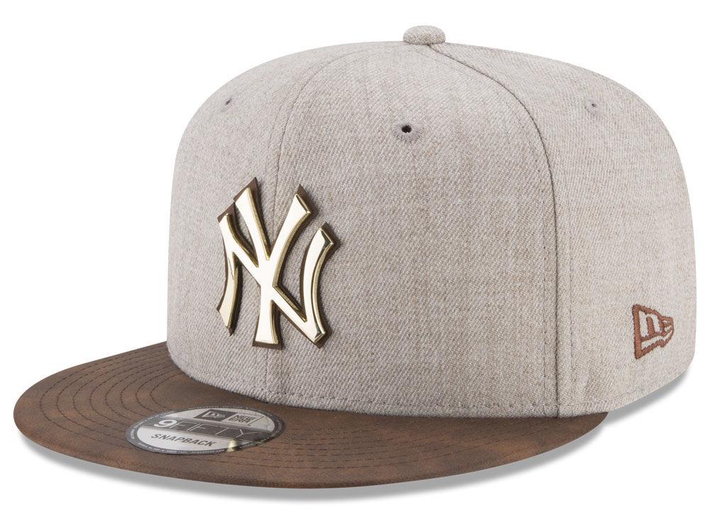 New York Yankees New Era MLB Oatmeal O Gold 9FIFTY Snapback Cap ... c661ba7607