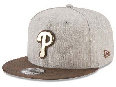 Philadelphia Phillies New Era MLB Oatmeal O'Gold 9FIFTY Snapback Cap