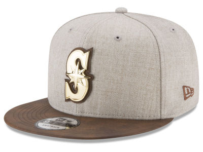 Seattle Mariners New Era MLB Oatmeal O'Gold 9FIFTY Snapback Cap
