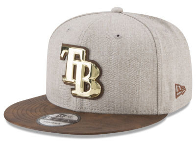 Tampa Bay Rays New Era MLB Oatmeal O'Gold 9FIFTY Snapback Cap