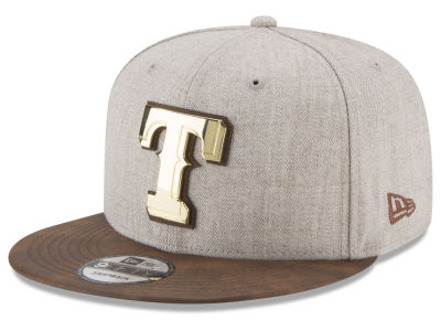 Texas Rangers New Era MLB Oatmeal O'Gold 9FIFTY Snapback Cap