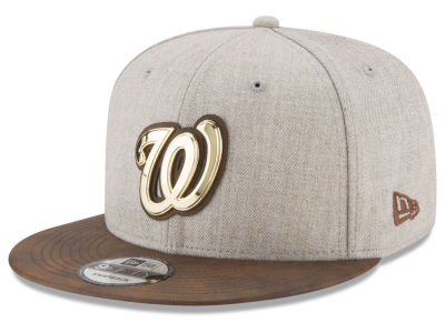 Washington Nationals New Era MLB Oatmeal O'Gold 9FIFTY Snapback Cap