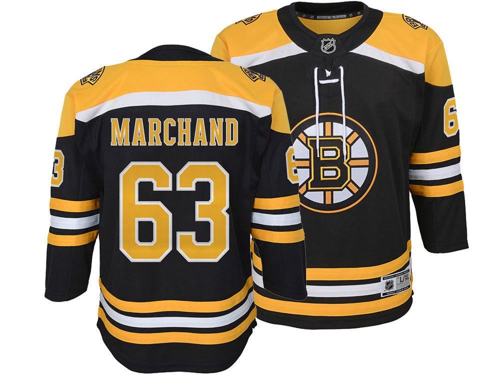 430aaa6a8 Boston Bruins Brad Marchand NHL Branded NHL Youth Premier Player Jersey
